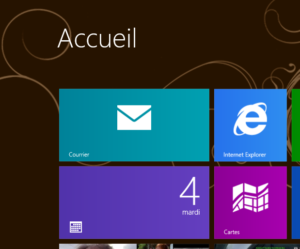 Page accueil Windows 8